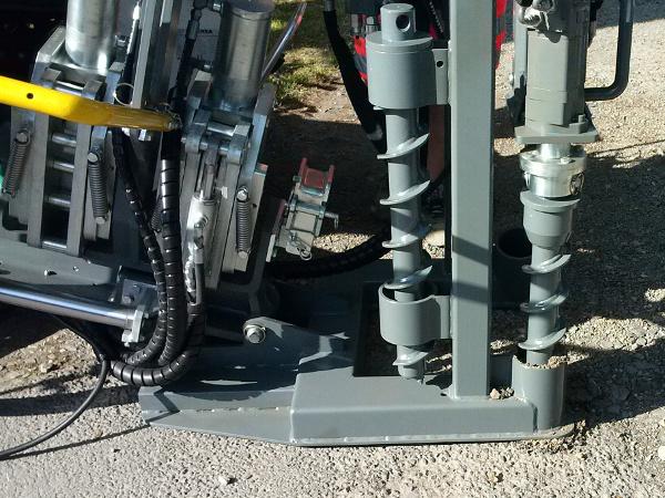 hydraulische Verankerung Spühlbohranlage hydraulic ancorage HDD drilling © TERRA AG, Reiden, Switzerland