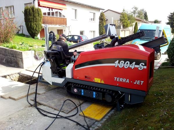Bohrarbeit, pilot bore © TERRA AG, Reiden, Switzerland