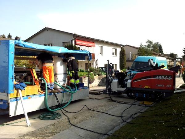 Tank und Werkzeug, drilling fluid tank and the tools© TERRA AG, Reiden, Switzerland