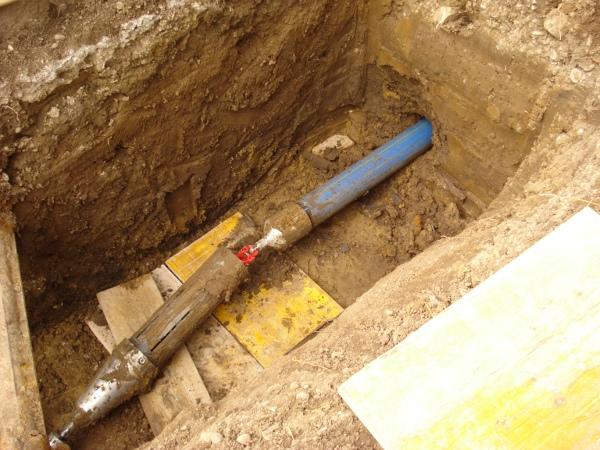Schutzmantelrohr Trinkwassernetz, pipe can be connected © TERRA AG, Reiden, Switzerland