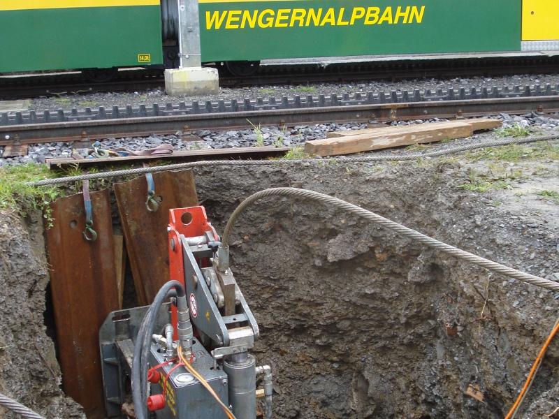 Schmutzwasserleitung, sewer line Wengernalp © TERRA AG, Reiden, Switzerland