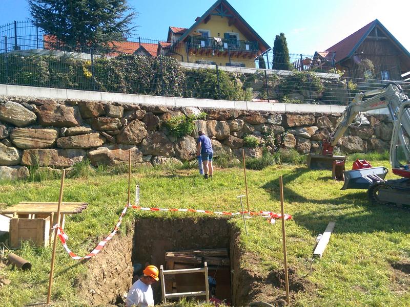 Unterquerung von Mauern, non-disruptive crossing © TERRA AG, Reiden, Switzerland