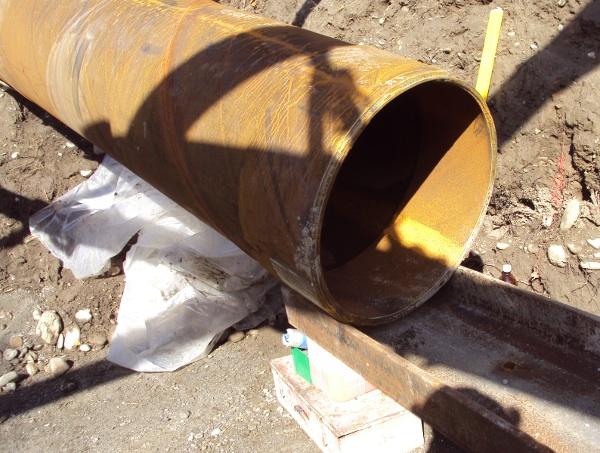 Aushubmaterial mit Kies Rohr Rammung© TERRA AG, Reiden, Switzerland