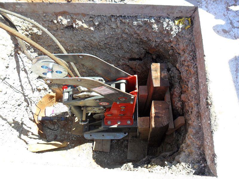 Extractor wird in der Grube montiert© TERRA AG, Reiden, Switzerland