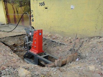 Extractor splittet duktiles Gussrohr in Brasilien© TERRA AG, Reiden, Switzerland