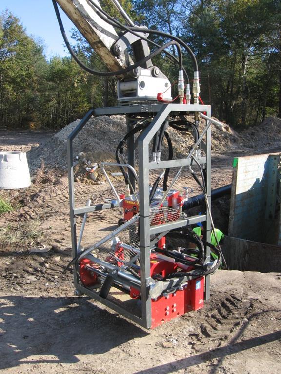 Excavator frame