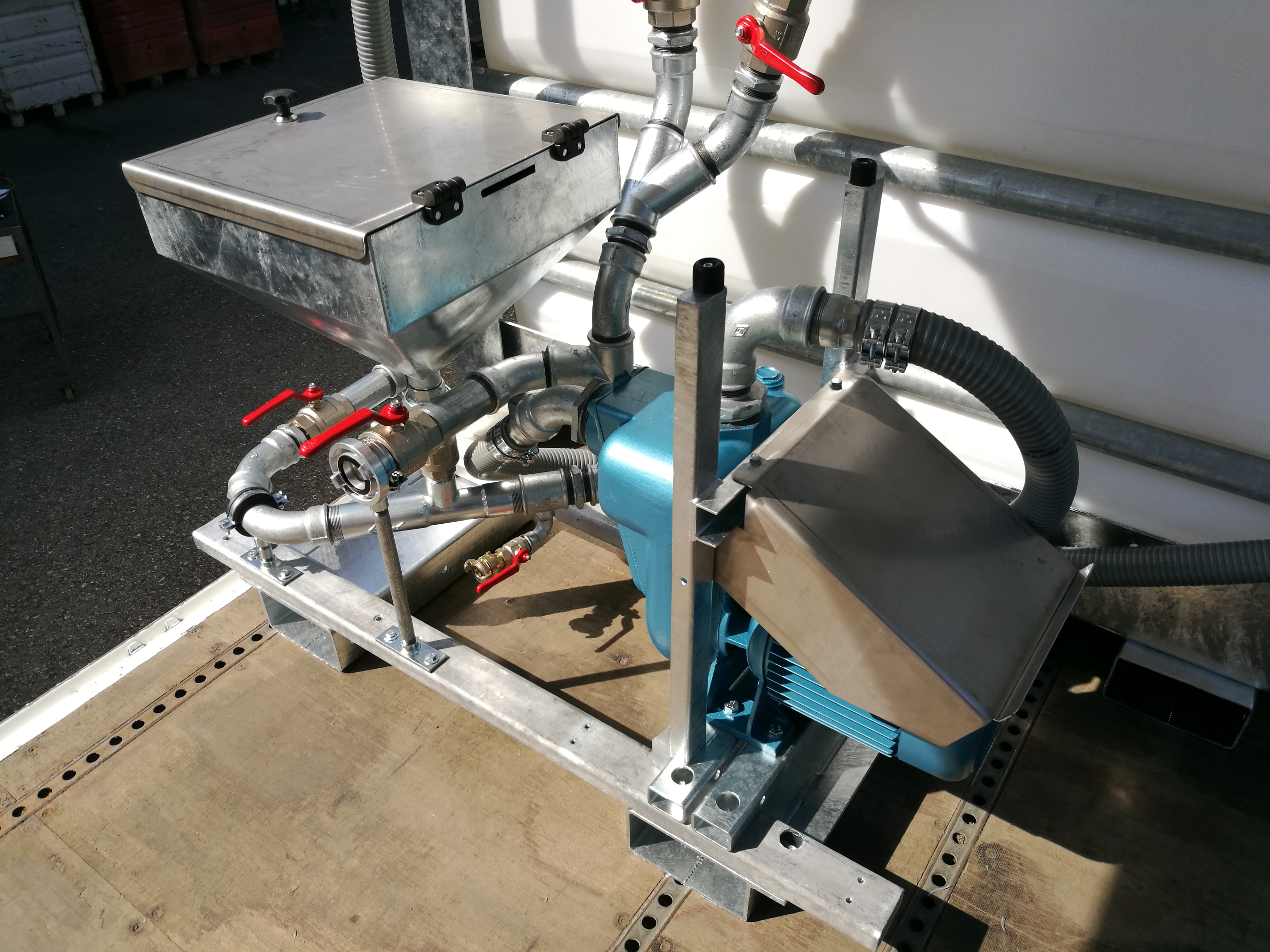 Mixing station MS 850e - electrical driven pump